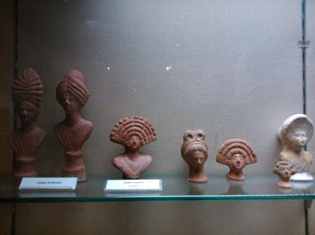 Figurillas romanas de terracota con originales peinados